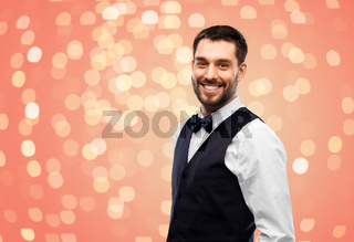 happy man in party clothes