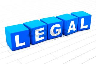 Legal word illustration
