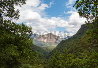 The andean mountains of northern Peru