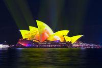 Sydney Opera House during Vivid Sydney 2018 festival