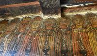 Fries mit zehn der 24 Älteren der Apokalypse, Felsenkirche Petros and Paulos Melehayzengi, Äthiopien