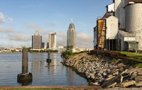 Mobile Alabama Downtown City Skyline Gulf Coast Seaport