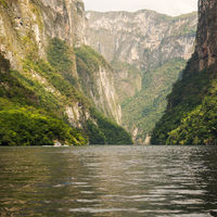 Tour Boats In Sumidero Canyon Mexico
