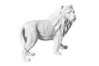 statue of a lion on a white background