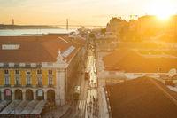 Lisbon Old Town street Portugal