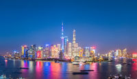 charming nightfall in shanghai