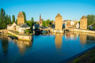 Towers Ponts Couverts Bridge River Strasbourg