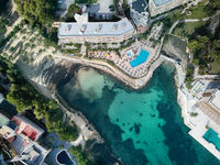 Luxury apartments and hotel with swimming pool in Majorca. Spain