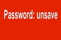 Password unsave
