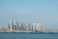 Panama City coastal view skyline  of business district