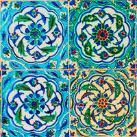 Ancient turkish ceramic tiles