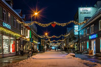 Christmas decorations in Tromso town