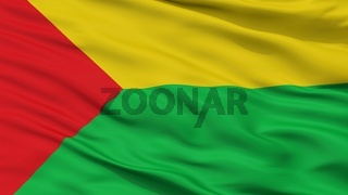 Chaparral City Flag, Colombia, Tolima Department, Closeup View