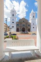 Panama City Cathedral iin a sunny day