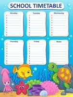 Weekly school timetable design 9