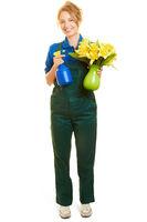 Junge Frau macht Ausbildung zur Floristin