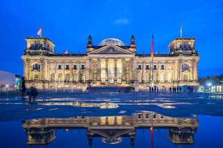 The Reichstag Building landmark in Berlin, Germany