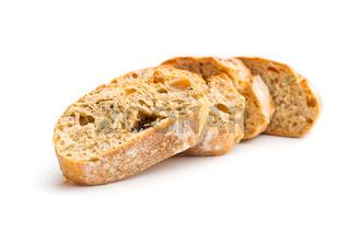 Slice of ciabatta bread.