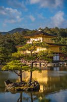 Kinkaku-ji buddhist temple or Golden pavilion, Kyoto, Japan