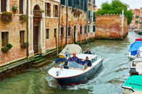 Carabinieri patrol boat in Venice