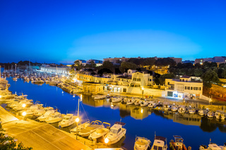 Ciutadella Harbour in Menorca, Spain