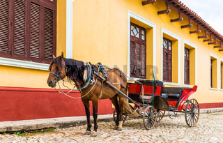 A typical view in Trinidad in Cuba
