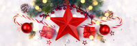 Red star Christmas decoration
