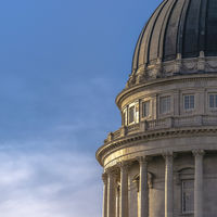 Utah State Capital Building against blue sky