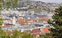 Stadt Stuttgart, Blick zur Stadtmitte