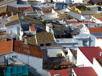 Roofs of small old houses in Denia, Spain.