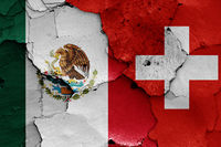 flags of Mexico and Switzerland