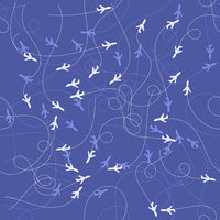 Track of Planes Seamles Pattern