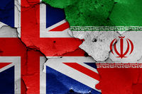 flags of UK and Iran