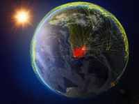 South Africa on Earth with network