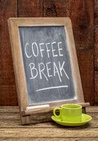 coffee break blackboard sign