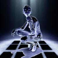 3D Illustration of a female Cyborg