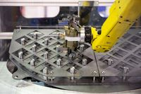 Yellow robotic arm