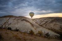 Hot air balloon in Cappadocia, Turkey.