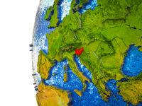 Slovenia on 3D Earth