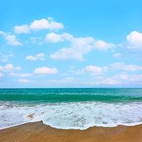 Sandy beach of seaside resort