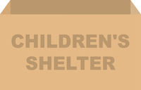 Childrens Shelter Donation Box Vector