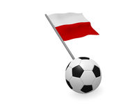 Soccer ball with the flag of Polen