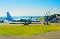Small airplane coast airport. Bali