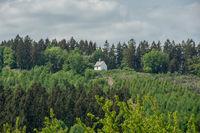 Landscape with little chapel