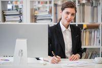 Portrait of business woman in office