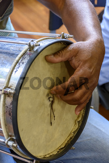 Typically Brazilian percussion instrument called Cuica
