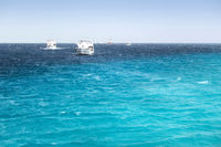 Blue Hole White yachts Egypt, Africa.