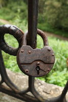 open-hole barn lock
