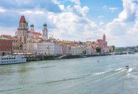 Danube waterfront of Passau