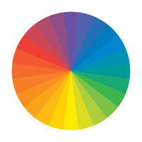 Spectral Rainbow Circle of 12 Multicolor Polychrome Segments. The spectral harmonic colorful palette of the painter.